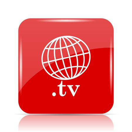 .tv icon. .tv website button on white background. Stock Photo