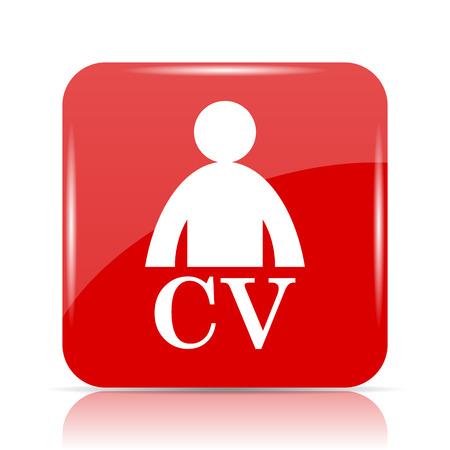 unoccupied: CV icon. CV website button on white background.