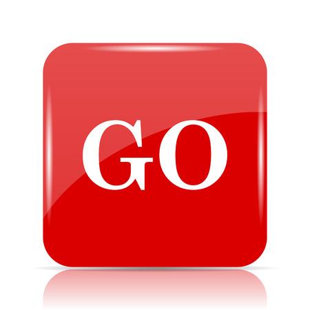 GO icon. GO website button on white background.