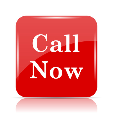 Call now icon. Call now website button on white background.