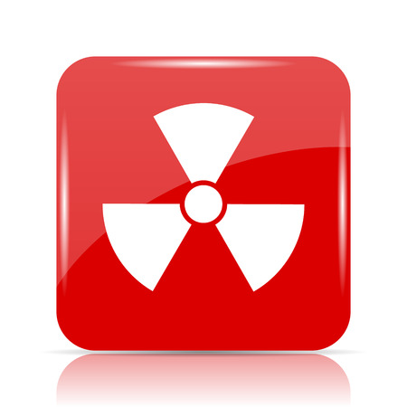 nuke: Radiation icon. Radiation website button on white background.