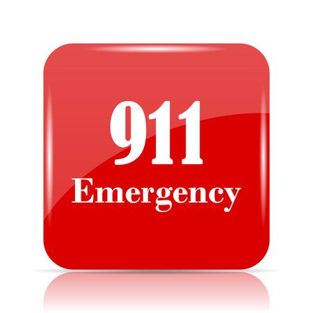 911 Emergency icon. 911 Emergency website button on white background.