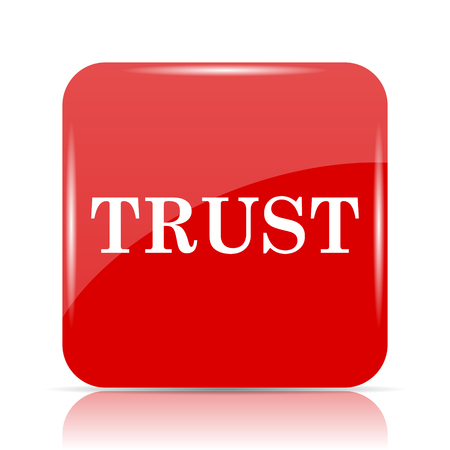 Trust icon. Trust website button on white background. Stock Photo