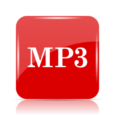 MP3 icon. MP3 website button on white background.