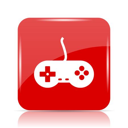 Gamepad icon. Gamepad website button on white background.