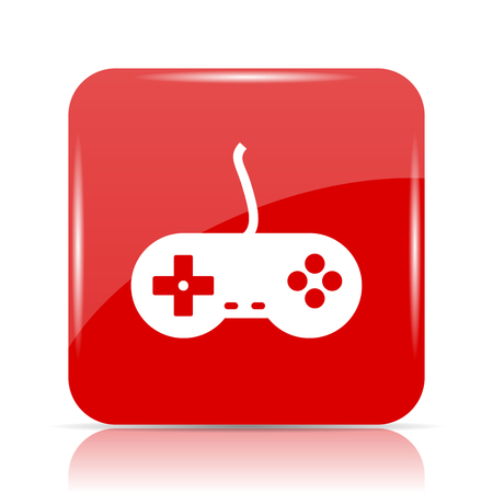joy pad: Gamepad icon. Gamepad website button on white background.