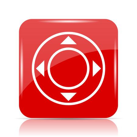 Joystick icon. Joystick website button on white background. Stock Photo