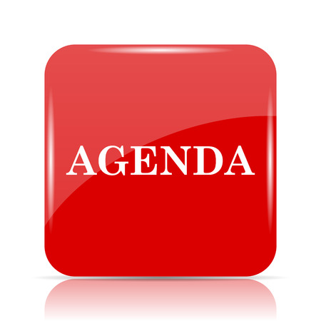 agenda: Agenda icon. Agenda website button on white background.