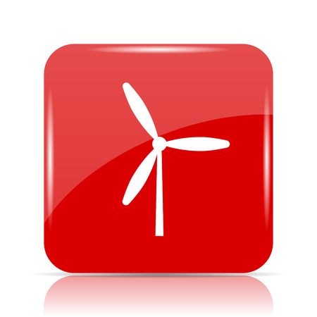 Windmill icon. Windmill website button on white background.
