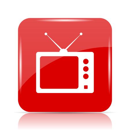 retro tv: Retro tv icon. Retro tv website button on white background.