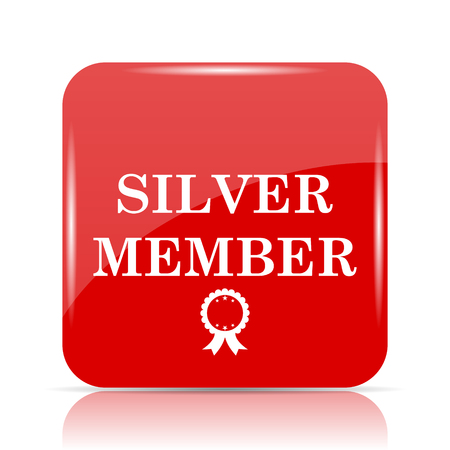 members only: Silver member icon. Silver member website button on white background.