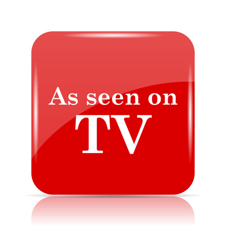 As seen on TV icon. As seen on TV website button on white background.