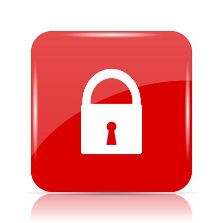 Lock icon. Lock website button on white background.