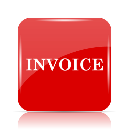 accounts payable: Invoice icon. Invoice website button on white background. Stock Photo