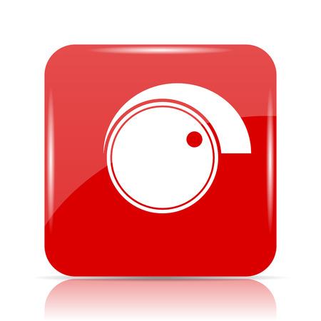 volume knob: Volume control icon. Volume control website button on white background. Stock Photo