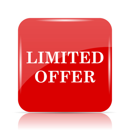 peel off: Limited offer icon. Limited offer website button on white background.