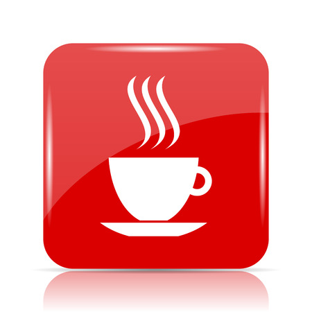 cup icon. cup website button on white background. Stock Photo