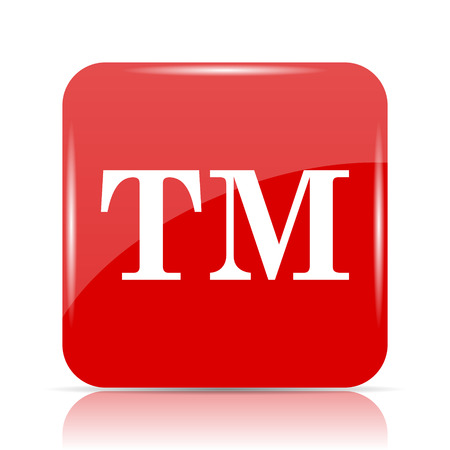 Trade mark icon. Trade mark website button on white background. Stock Photo