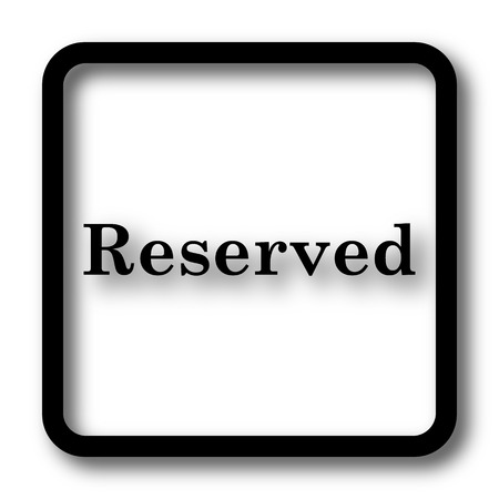 reservations: Reserved icon, black website button on white background.