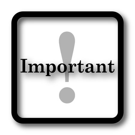 notable: Important icon, black website button on white background. Stock Photo