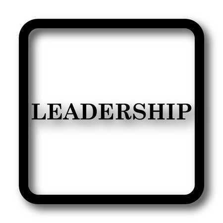 superintendence: Leadership icon, black website button on white background.
