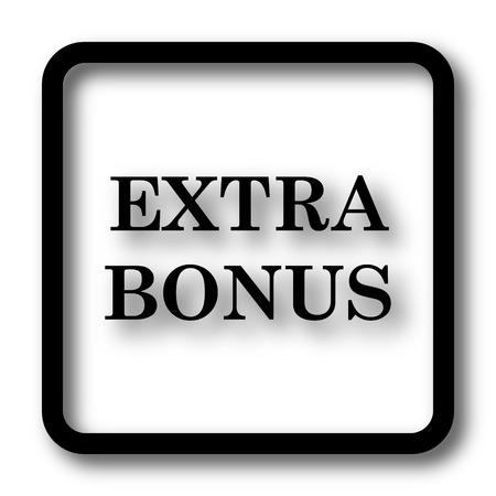 Extra bonus icon, black website button on white background.