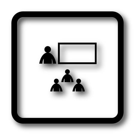 stage coach: Presenting icon, black website button on white background.