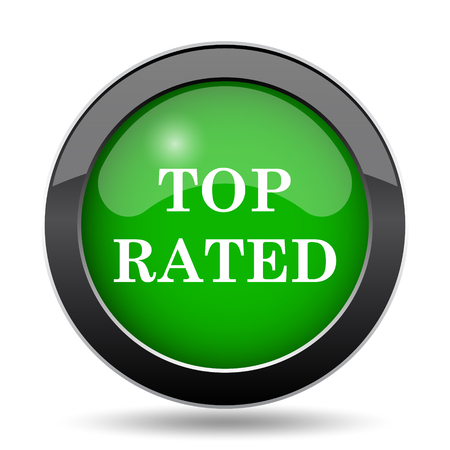 rated: Top rated  icon, green website button on white background.