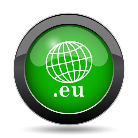 eu: .eu icon, green website button on white background.