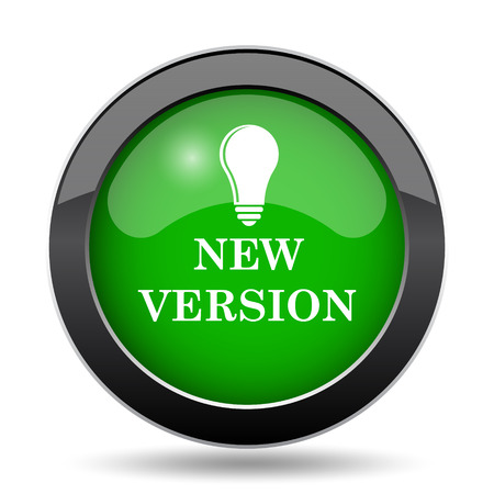 New version icon, green website button on white background.