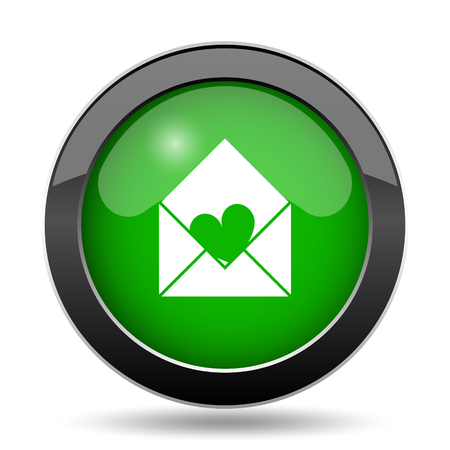 Send love icon, green website button on white background.