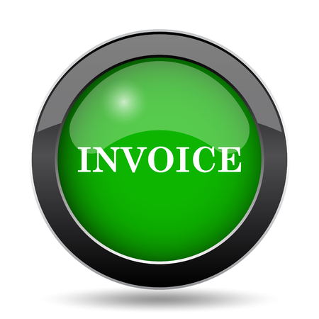 tax office: Invoice icon, green website button on white background.