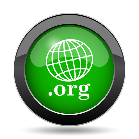 org: .org icon, green website button on white background. Stock Photo