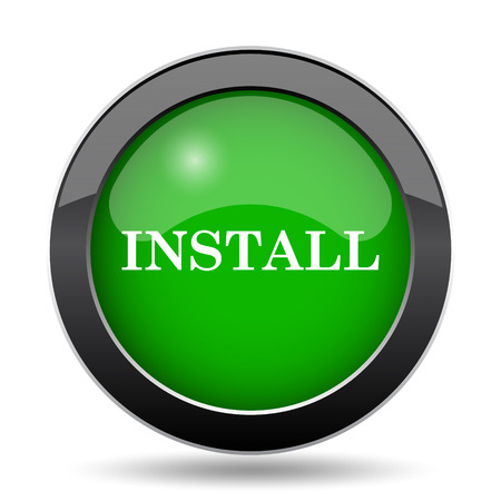operative: Install icon, green website button on white background.