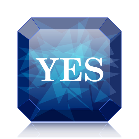 proceed: Yes icon, blue website button on white background.