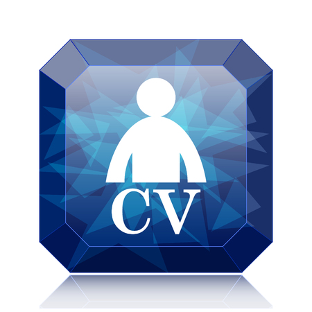 unoccupied: CV icon, blue website button on white background.