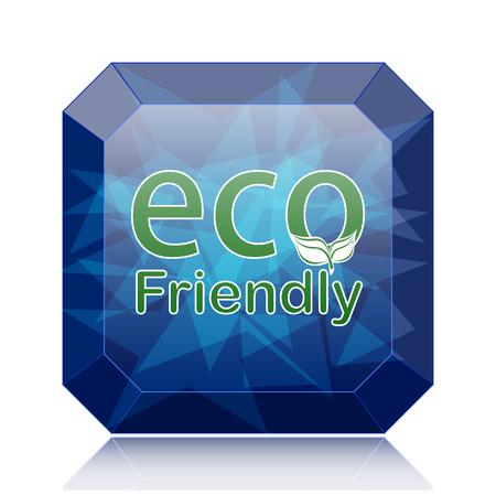 eco friendly icon: Eco Friendly icon, blue website button on white background. Stock Photo