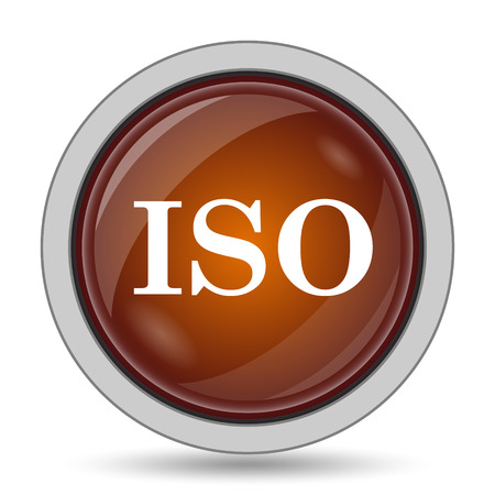 norm: ISO icon, orange website button on white background.