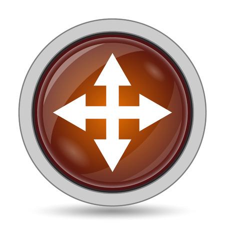 Full screen icon, orange website button on white background.