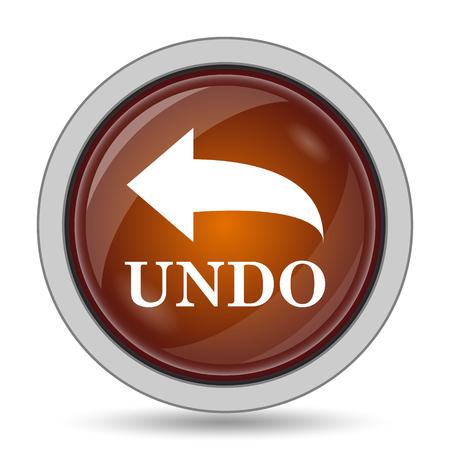 undo: Undo icon, orange website button on white background.