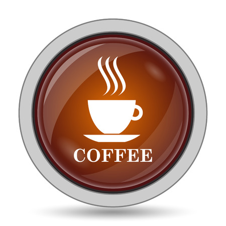 thumbnail: Coffee cup icon, orange website button on white background.