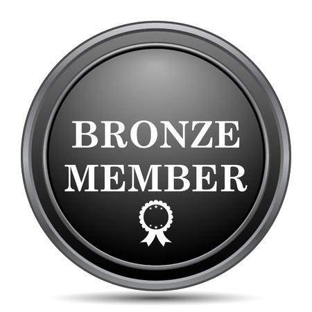 premium member: Bronze member icon, black website button on white background.