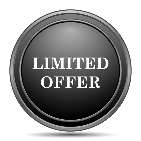 special edition: Limited offer icon, black website button on white background. Stock Photo
