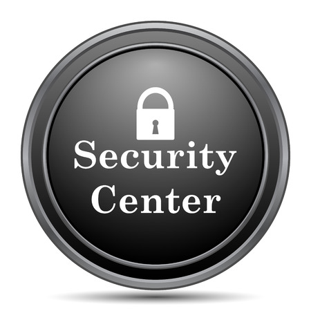 Security center icon, black website button on white background.