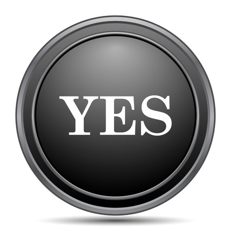 proceed: Yes icon, black website button on white background.