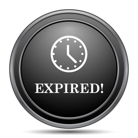 cancellation: Expired icon, black website button on white background.
