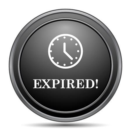 expired: Expired icon, black website button on white background.