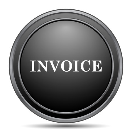 accounts payable: Invoice icon, black website button on white background.