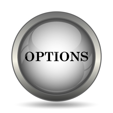 preferences: Options icon, black website button on white background. Stock Photo