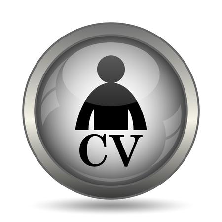 unoccupied: CV icon, black website button on white background.